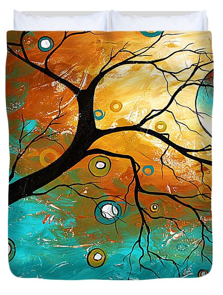 Many Moons Ago By Madart Duvet Cover by Megan Duncanson
