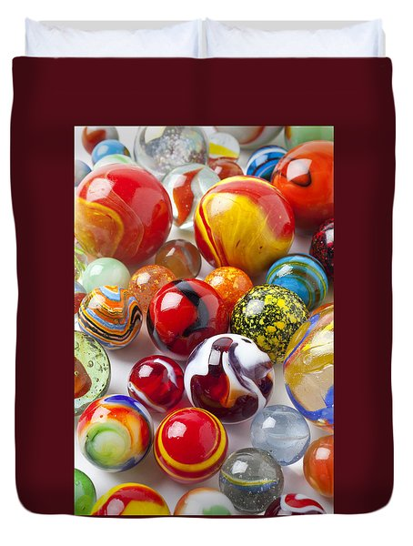 Marbles close up Duvet Cover by Garry Gay