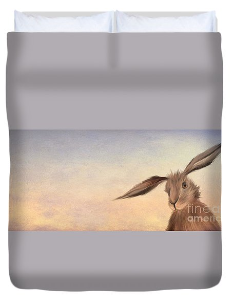 March Hare Duvet Cover by John Edwards