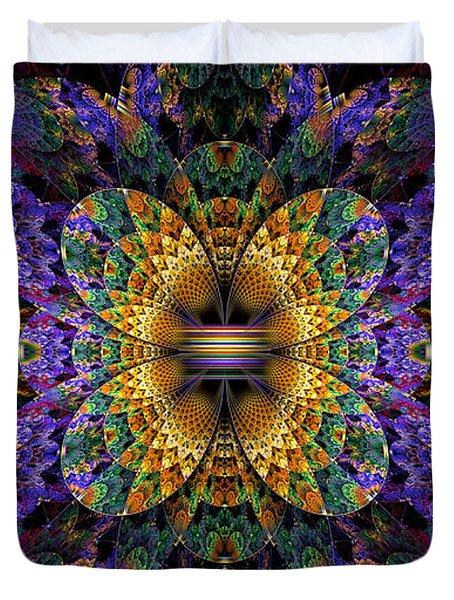 Mardi Gras Split Crop Duvet Cover by Peggi Wolfe