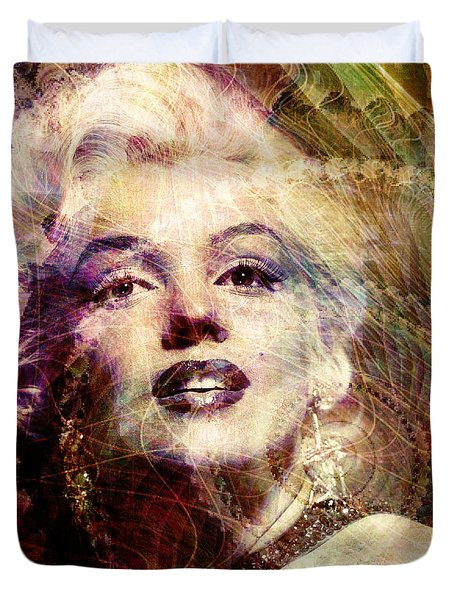 Marilyn Duvet Cover by Barbara Berney