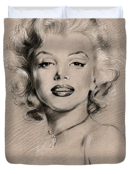 Marilyn Monroe Duvet Cover by Ylli Haruni