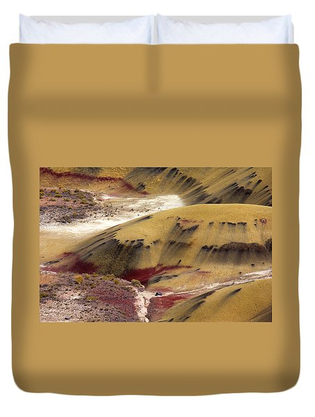 Marked Hills Duvet Cover by Mike  Dawson