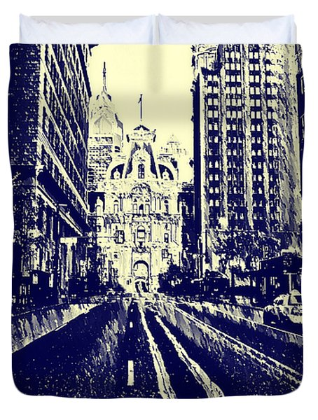 Market Street  Duvet Cover by Bill Cannon