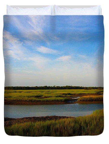 Marshland Charleston South Carolina Duvet Cover by Susanne Van Hulst