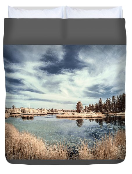Marshlands In Washington Duvet Cover by Jon Glaser