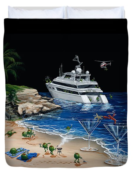 Martini Cove La Jolla Duvet Cover by Michael Godard
