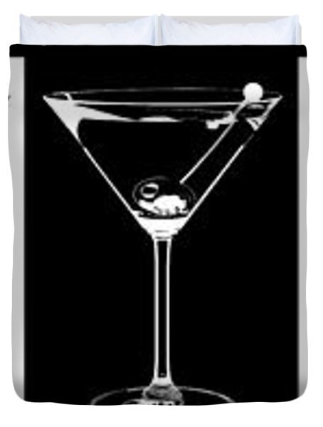 Martini Party Duvet Cover by Jon Neidert