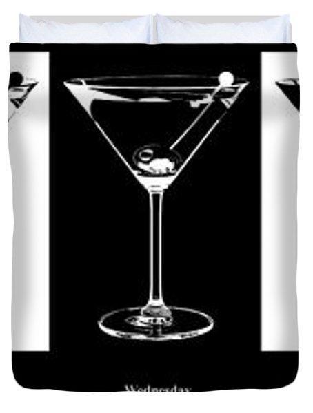 Martini Week Duvet Cover by Jon Neidert