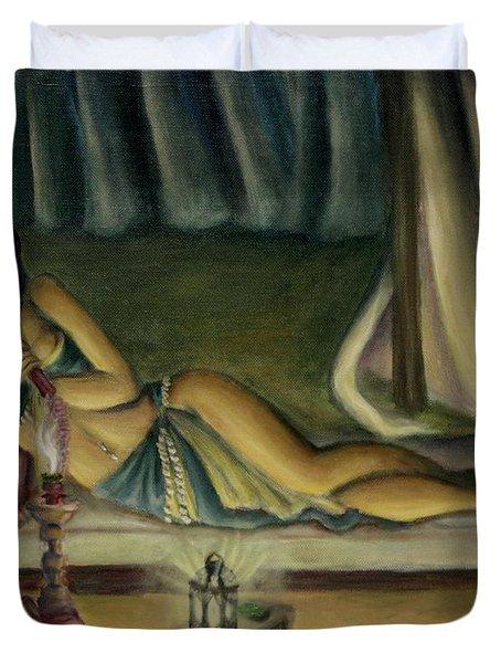 Mary Jane Addington Duvet Cover by C S