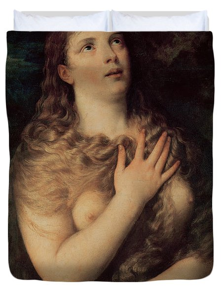 Mary Magdalene Duvet Cover by Titian