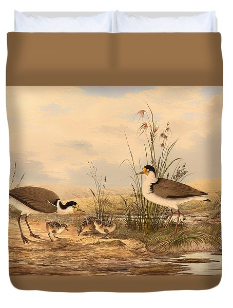 Masked Lapwing Duvet Cover by Mountain Dreams