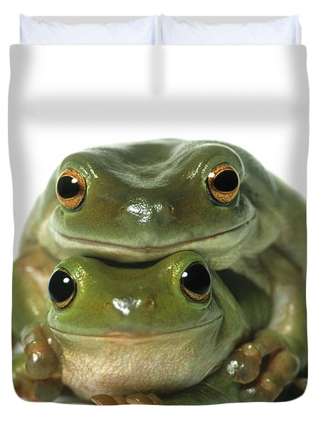 Mating Frogs Duvet Cover by Darwin Wiggett