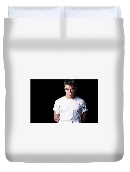 Matt Damon Duvet Cover by Iguanna Espinosa