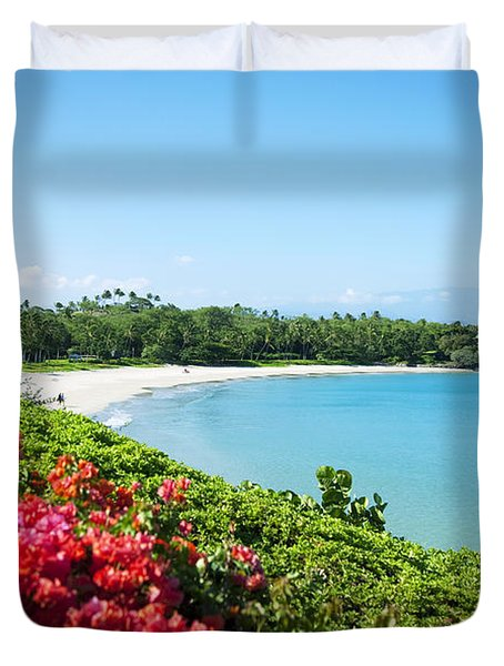 Mauna Kea Beach Duvet Cover by Ron Dahlquist - Printscapes