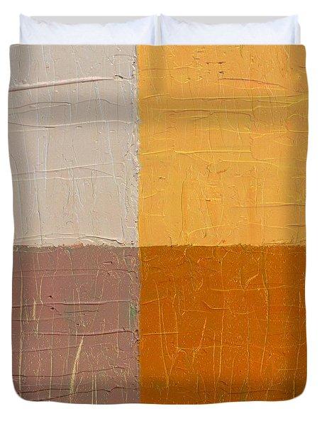 Mauve and Peach Duvet Cover by Michelle Calkins