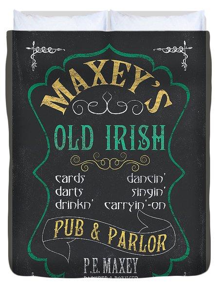 Maxey's Old Irish Pub Duvet Cover by Debbie DeWitt