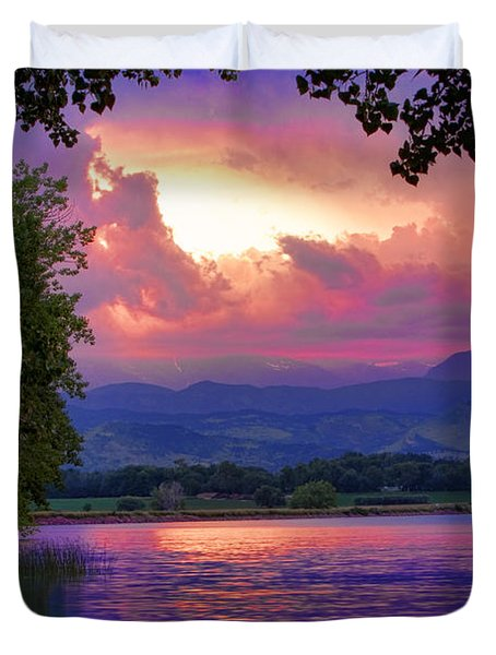 McIntosh Lake Sunset Duvet Cover by James BO  Insogna
