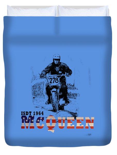 McQueen ISDT 1964 Duvet Cover by Mark Rogan