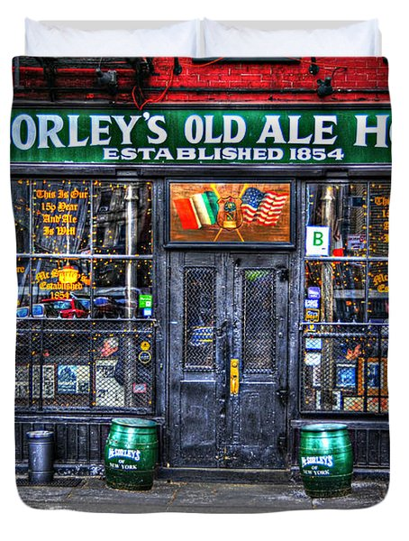 McSorley's  in Color Duvet Cover by Randy Aveille
