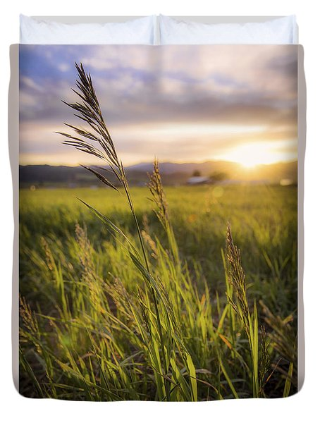 Meadow Light Duvet Cover by Chad Dutson