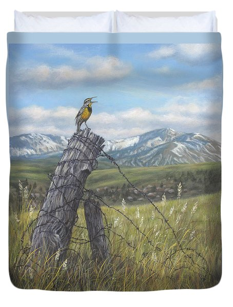 Meadowlark Serenade Duvet Cover by Kim Lockman