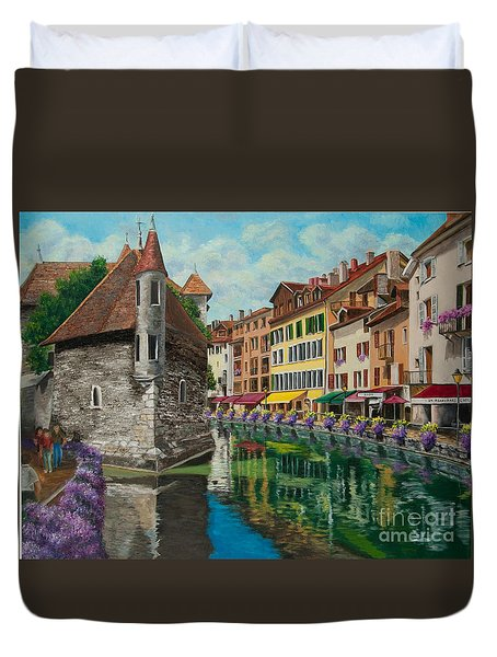 Medieval Jail In Annecy Duvet Cover by Charlotte Blanchard