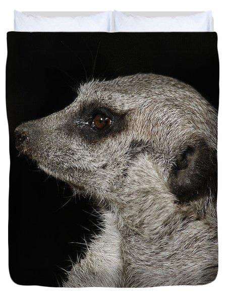 Meerkat Profile Duvet Cover by Ernie Echols