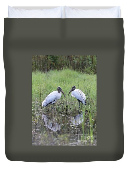 Meeting Of The Minds Duvet Cover by Carol Groenen