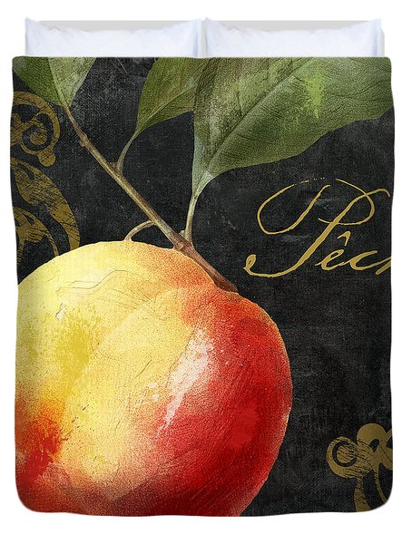 Melange Peach Peche Duvet Cover by Mindy Sommers