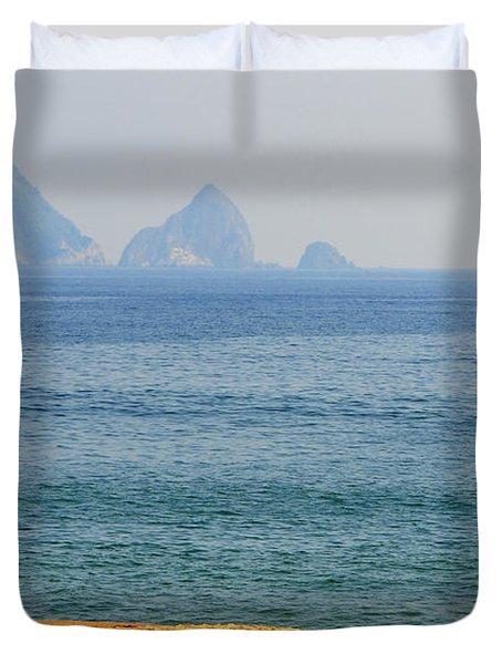 Melaque Surf Duvet Cover by Skip Hunt