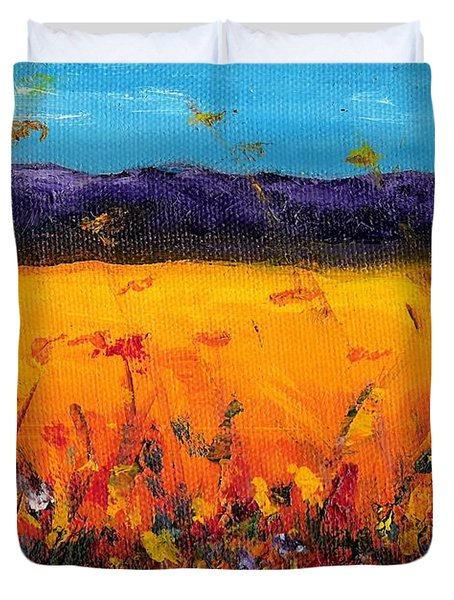 Melissa's Meadow Duvet Cover by Frances Marino