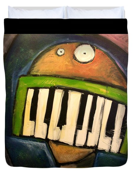 Melodica Mouth Duvet Cover by Tim Nyberg