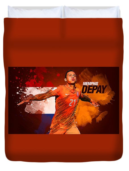 Memphis Depay Duvet Cover by Semih Yurdabak