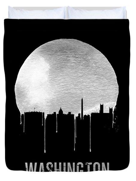 Memphis Skyline Black Duvet Cover by Naxart Studio