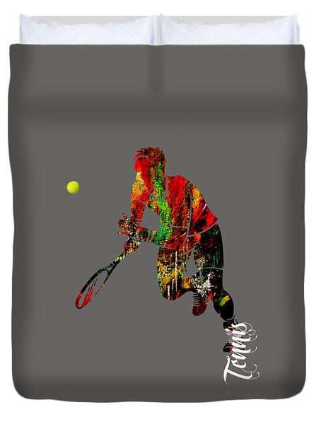 Mens Tennis Collection Duvet Cover by Marvin Blaine