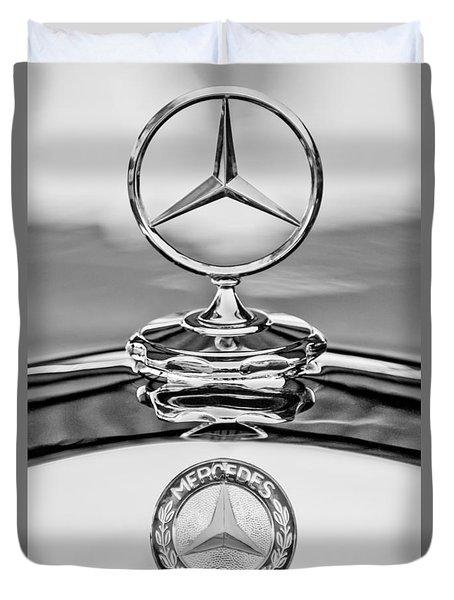 Mercedes Benz Hood Ornament 2 Duvet Cover by Jill Reger