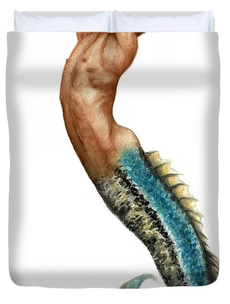 Merman Duvet Cover by Bruce Lennon