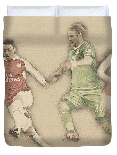 Mesut Ozil Duvet Cover by Don Kuing