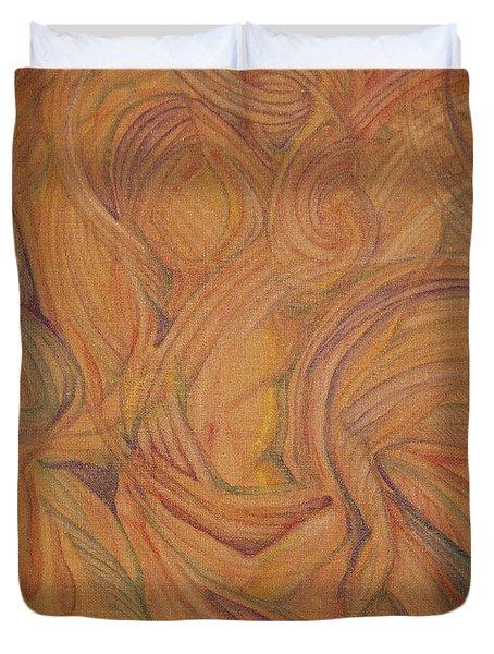 Meta Duvet Cover by Caroline Czelatko
