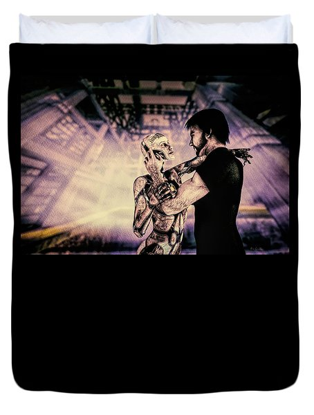 Metropolis Revisited  Duvet Cover by Bob Orsillo