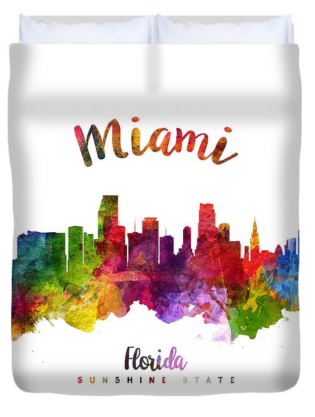 Miami Florida 23 Duvet Cover by Aged Pixel