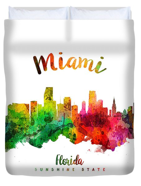 Miami Florida 24 Duvet Cover by Aged Pixel