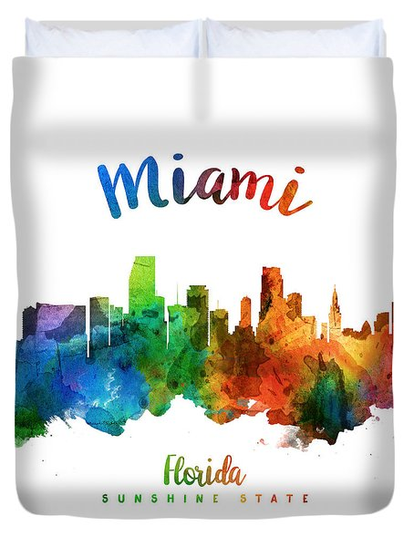 Miami Florida 25 Duvet Cover by Aged Pixel
