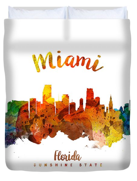 Miami Florida 26 Duvet Cover by Aged Pixel