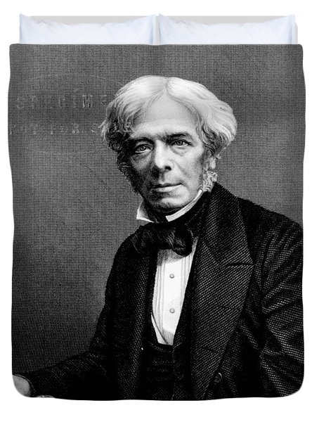 Michael Faraday, English Physicist Duvet Cover by Photo Researchers