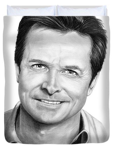 Michael J. Fox Duvet Cover by Murphy Elliott