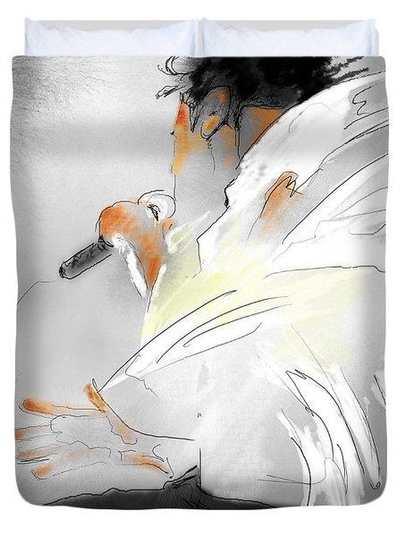 Michael Jackson 08 Duvet Cover by Miki De Goodaboom