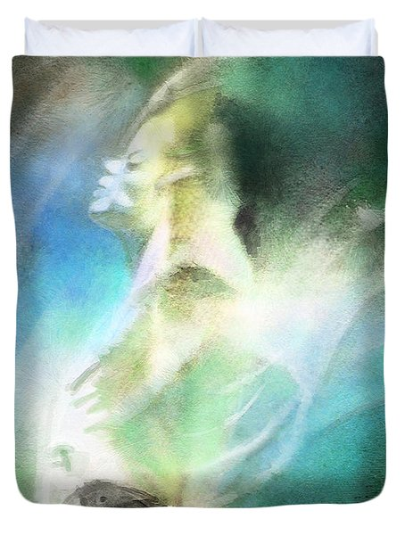 Michael Jackson 15 Duvet Cover by Miki De Goodaboom