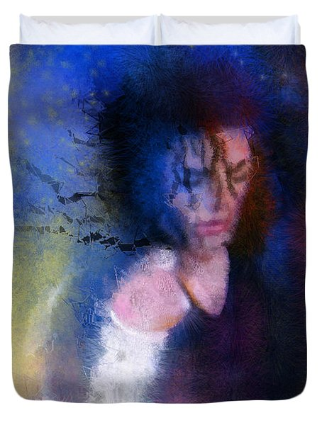 Michael Jackson 16 Duvet Cover by Miki De Goodaboom